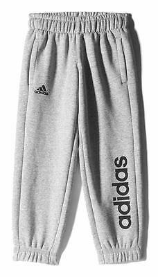 Adidas Essentials Linear Brushed Pants Grey Boy Pantalons