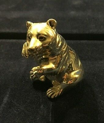 Saturno Sterling Silver Bear Ornament . 3.8 Cm Tall.