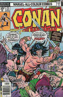 Conan The Barbarian # 70 - City In The Storm( Scarce - 1977 )