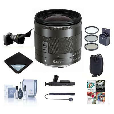 Canon EF-M 11-22mm f/4-5.6 IS STM Lens with Premium Accessory Bundle #7568B002 B