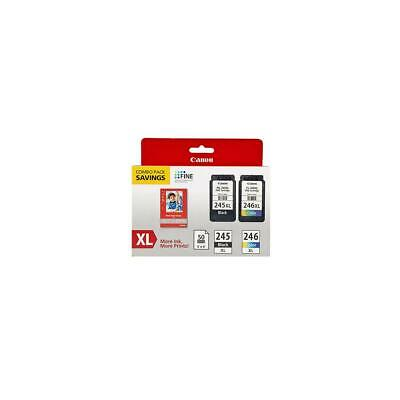 Canon Ink Package with PG-245 XL Black  CL-246 XL Color Ink Cartridge #8278B005