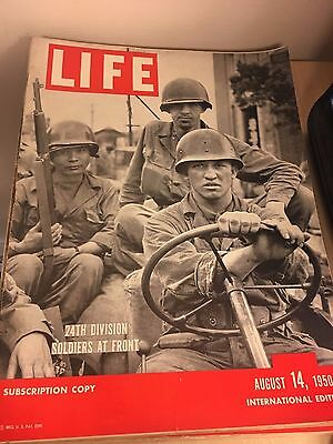 Vintage Life Magazine International Edition, August 14 1950 - 24th Div Soldiers