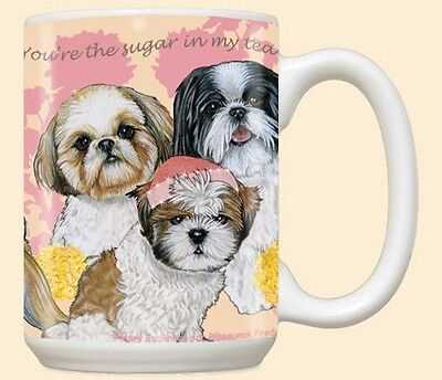 15 oz. Ceramic Mug (PS) - Shih Tzu MU538