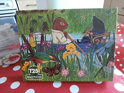 """Ms Vintage Jigsaw/puzzle -""""wind In The Willows""""-125 Pieces."""