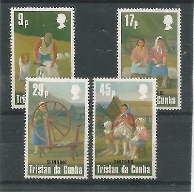 One Penny Arcade Tristan 1984 Woollens Industry MNH Set