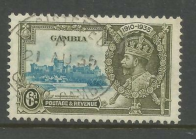 Arcade 99p Gambia 1935 Silver Jubilee 6d Used Issue