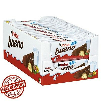 KINDER BUENO 2 BAR 30 PACKETS 43g x 30 Packets (Full Box) CHOCOLATE