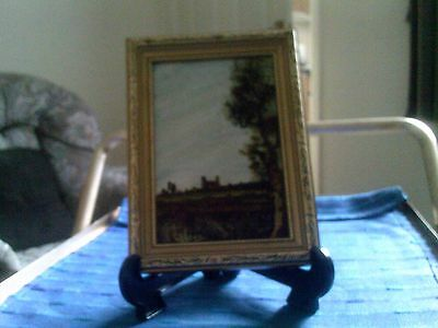 Small Original Oil Painting By Norman Jones - A Country Scene