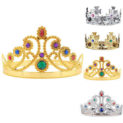 Fashion Christmas King Queen Princess Tiara Crown Hairband Headwear Supplies