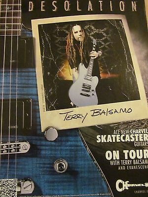 Evanescence, Terry Blsamo, Charvel Guitars, Full Page Promotional Ad