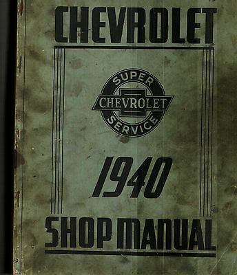 1940 Chevrolet Car And Truck Original Factory Issued Shop Manual
