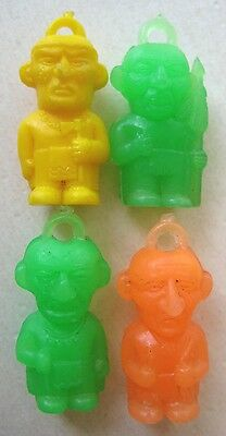 VINTAGE Plastic Good Luck Indian Troll FAMOUS CHIEFS Gumball Charms Prize LOT