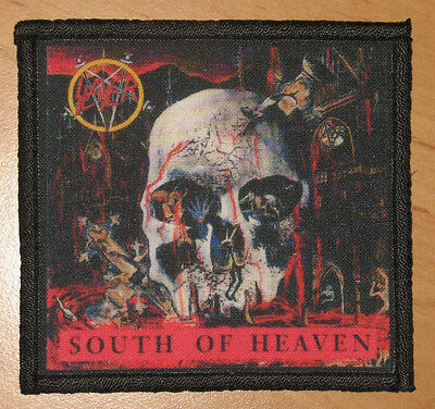 """SLAYER """"SOUTH OF HEAVEN"""" silk screen PATCH"""