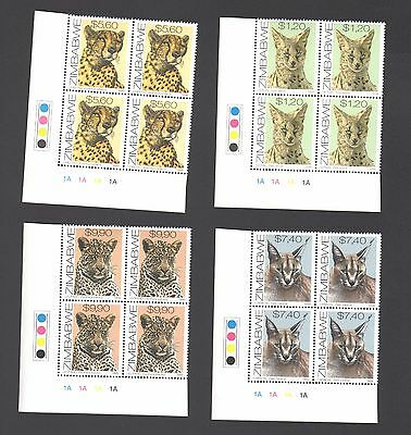 ZIMBABWE 1999 CATS 1A Blocks  MNH