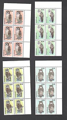 ZIMBABWE 1999 OWLS Birds Blocks  MNH
