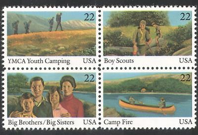 USA 1985 Youth Year/Scouts/YMCA/Leisure/Camping/Canoe/Boat/Transport blk n39035