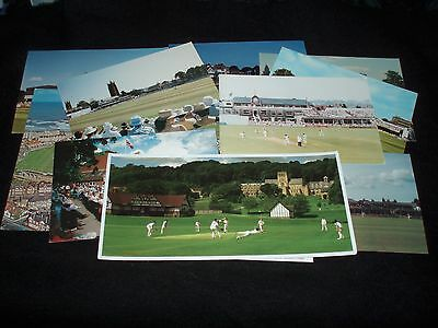 12 Famous Cricket Grounds, Postcards All Unposted & Good Condition For Age..