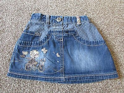 Very cute Next girls 2-3 years girl on bicycle denim skirt - Excellent condition