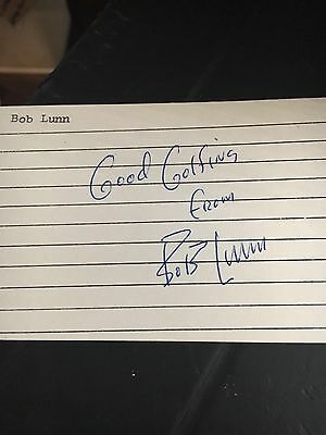 Bob Lunn  Golfer Signed 3x5 index Card