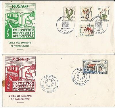 125. (2) MONACO 1967 Exposition Universelle De Montreal with Expo  cancellation