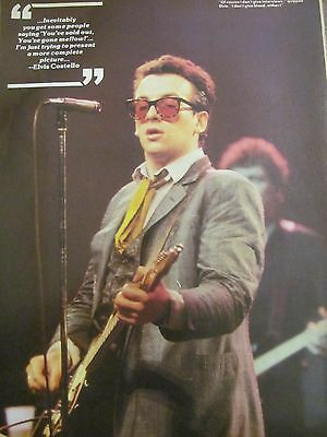 Elvis Costello, Full Page Vintage Pinup
