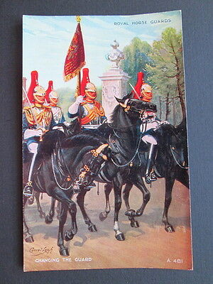Royal Horse Guards, Changing Guard By Conrad Leigh - Valentine's Art Colour A481