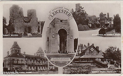 Postcard Leicester Leicestershire multiview posted 1926 RP by Reginald Bentley