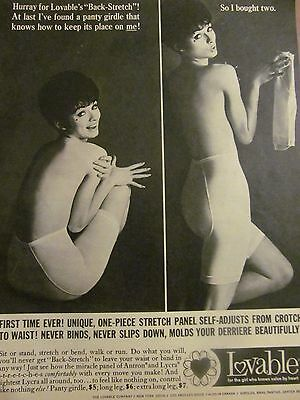 Lovable Girdles, Full Page Vintage Print Ad