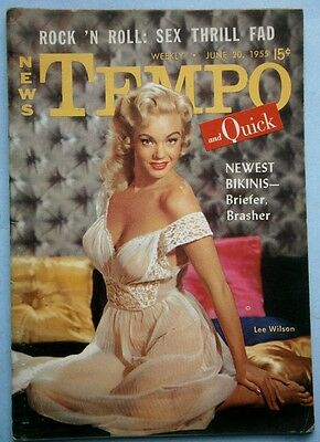 June 1955 TEMPO Magazine with Lee Wilson & Lynn Lampert Covers