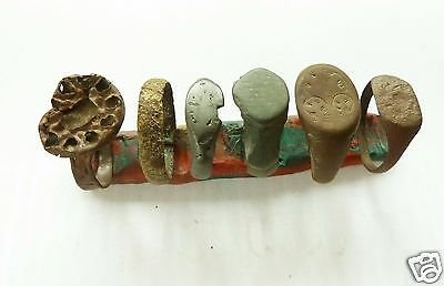 Set of 6 medieval bronze rings (k166)  .