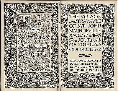 The Voiage And Travayle Of Syr John Maundeville Knight (1928)