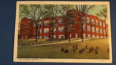 1939 High School OXFORD, NC db postcard postmark
