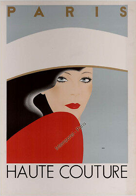 Affiche Originale Paris Haute Couture