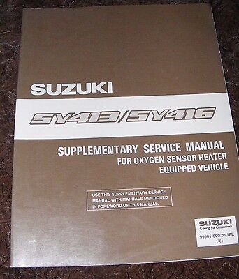 Suzuki Sy413 / Sy416 Supplementary Service Manual  (Contents Listed)
