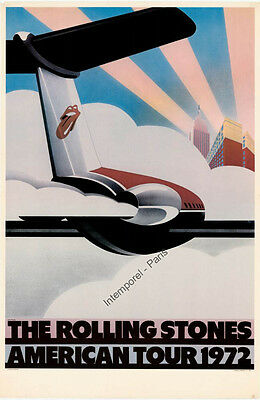 Affiche Originale The Rolling Stones American Tour 1972 1972
