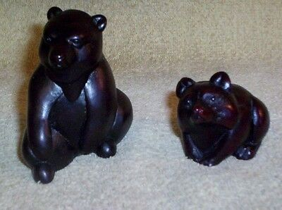 BOMA CANADA 2 Brown Bear Figurines Mother & Cub