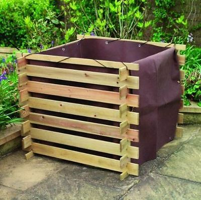 Compost Bin Liner For Wooden Slatted Composter Garden Waste With Lid Cover