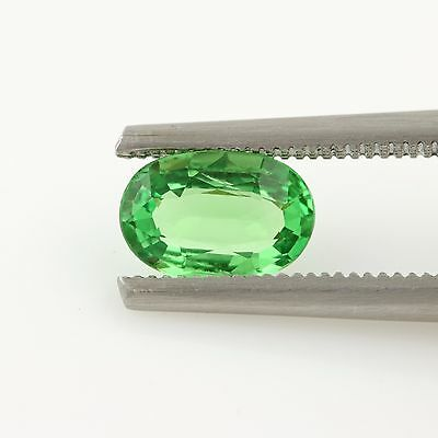 1.08ct Loose Tsavorite Garnet Gemstone - Oval Bright Green 8.14mm x 5.42mm
