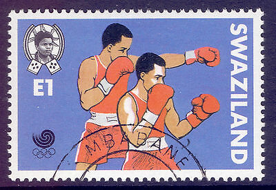 SWAZILAND 1988 stamp 1 E Boxing from Olympic Games Seoul fine used (CTO)