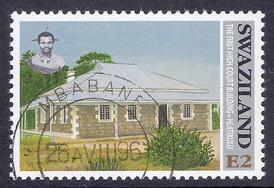 SWAZILAND 1996 stamp 2 E High Court from Historic Monuments fine used (CTO)