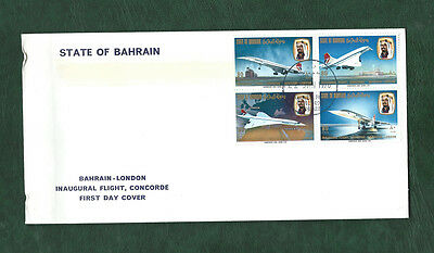 Bahrain - London Inaugural flight of Concorde se-tenant stamps on FDC