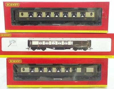 Hornby Oo R4427 R4164A R4166 - Steel Sided Br Pullman Coaches, Illuminated Lamps
