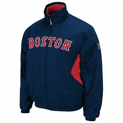 Mens New MLB Majestic Authentic Boston Red Sox Therma Base Jacket Size L