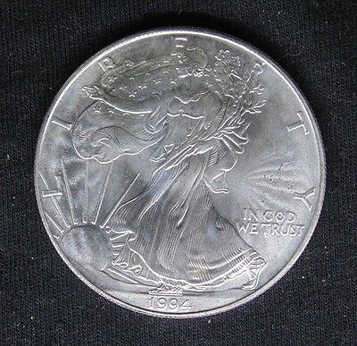 1994 American Silver Eagle 1 Troy Ounce .999 Fine Silver Ase $1 Coin (1)