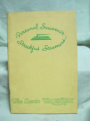1936 The Scenic Water Way Streckfus Line Magazine Mississippi River Boats