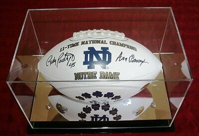 Notre Dame National Champs Signed Rudy Ruettiger/ Ara Parseghian Football- Last!