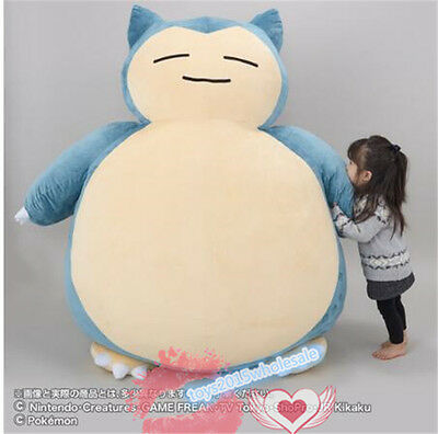 """Huge 59"""" Pokemon Go Snorlax Plush Toy Doll Pillow Bed ~ ONLY COVER WITH ZIPPER"""