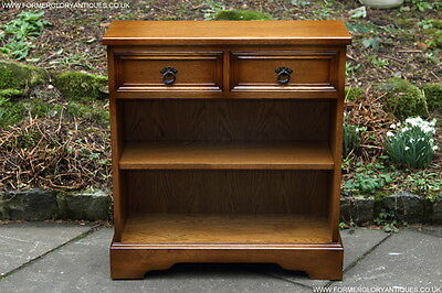 Olde Court Charm Oak Bookcase Stand Display Cd Dvd Cabinet Shelves Drawers Table