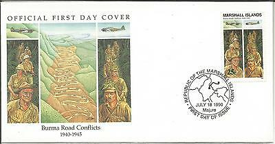 Arcade 99p A Marshall Is 1990 Burma Road Conflicts 1945 FDC