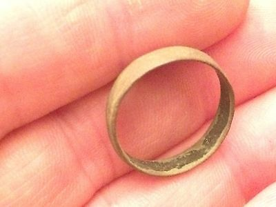 (D19) Historic Copper / Brass Ring From New York Fur Trade Historical Indian